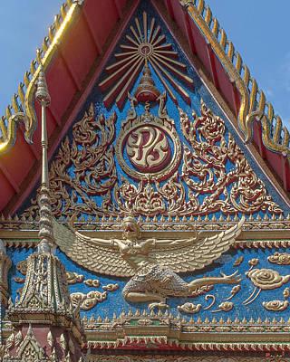 Photograph - Wat Mongkol Nimit Ubosot Gable Kinara Dthp0594 by Gerry Gantt