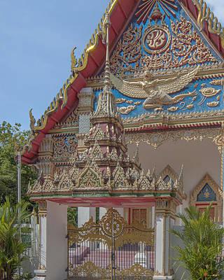 Photograph - Wat Mongkol Nimit Ubosot Gate Dthp0593 by Gerry Gantt