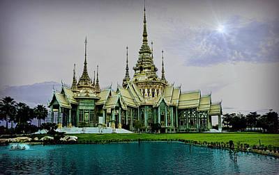 Photograph - Wat Non Goom ..at Twilight.   by Ian Gledhill