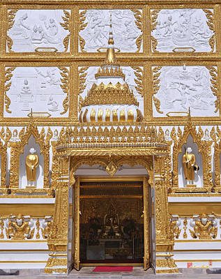 Photograph - Wat Nong Bua Door Of Main Stupa Dthu448 by Gerry Gantt