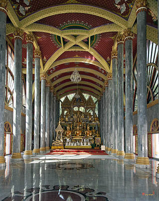 Photograph - Wat Nong Bua Ubosot Interior Dthu461 by Gerry Gantt