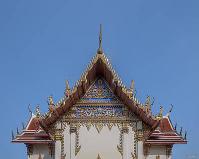 Photograph - Wat Phichai Songkhram Phra Ubosot Rear Gable Dthsp0047 by Gerry Gantt