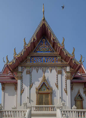 Photograph - Wat Phichai Songkhram Phra Ubosot Side Entrance Dthsp0045 by Gerry Gantt