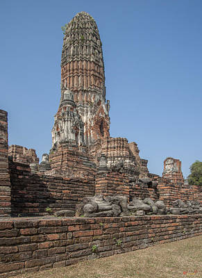 Photograph - Wat Phra Ram Great Central Prang And Broken Buddha Images Dtha0166 by Gerry Gantt