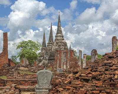 Photograph - Wat Phra Si Sanphet Chedi And Ubosot Ruins Dtha0022 by Gerry Gantt