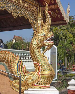 Photograph - Wat Phra Singh Phra Wihan Luang Naga Dthcm0240 by Gerry Gantt
