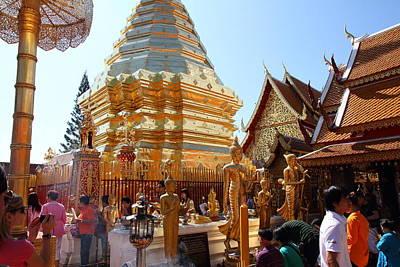 Wat Phrathat Doi Suthep - Chiang Mai Thailand - 011324 Print by DC Photographer