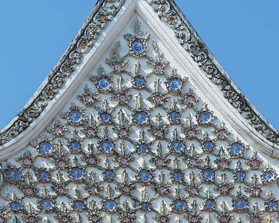 Photograph - Wat Prot Ket Chettharam Phra Ubosot Gable Dthb1888 by Gerry Gantt