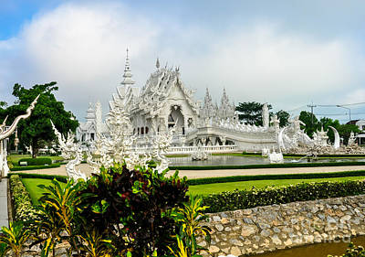 Wat Rong Khun Or White Temple Art Print by Phongkit Longthong