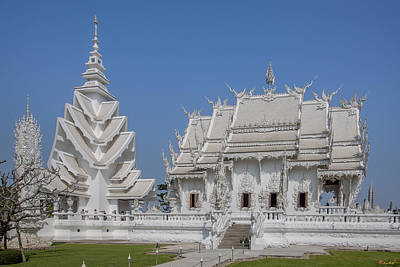 Photograph - Wat Rong Khun Ubosot And Tower Dthcr0034 by Gerry Gantt