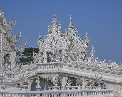 Photograph - Wat Rong Khun Ubosot Causeway Flame Dthcr0013 by Gerry Gantt