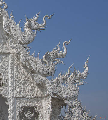 Photograph - Wat Rong Khun Ubosot Gable Finials Dthcr0016 by Gerry Gantt