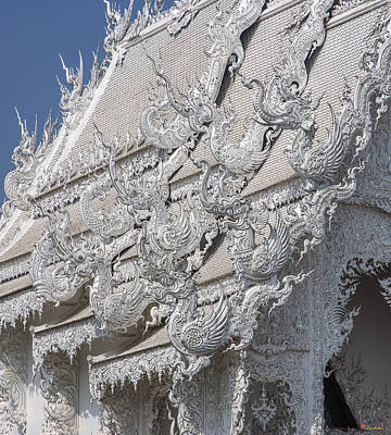 Photograph - Wat Rong Khun Ubosot Gable Finials Dthcr0047 by Gerry Gantt