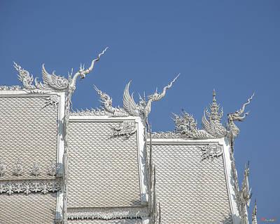 Photograph - Wat Rong Khun Ubosot Roof Chofa Dthcr0039 by Gerry Gantt