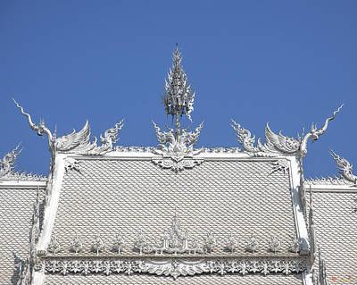 Photograph - Wat Rong Khun Ubosot Roof Dthcr0038 by Gerry Gantt