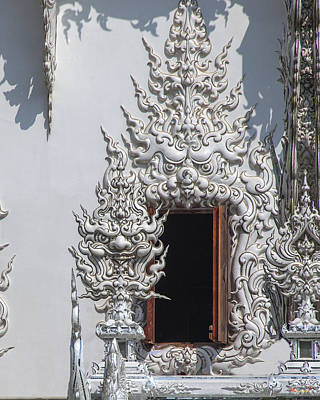 Photograph - Wat Rong Khun Ubosot Window Dthcr0042 by Gerry Gantt