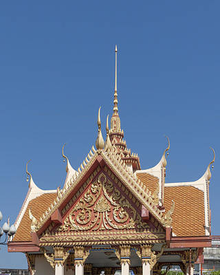 Photograph - Wat Ruak Pavilion Roof Dthb1851 by Gerry Gantt