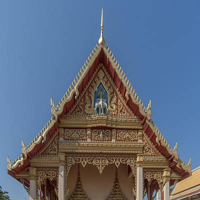 Photograph - Wat Ruak Phra Ubosot Gable Dthb1840 by Gerry Gantt