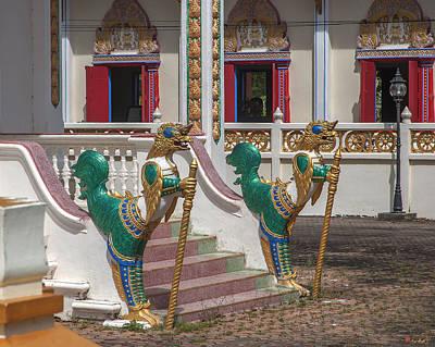 Photograph - Wat Sawang Arom Ubosot Entrance Kinnara Dthp376 by Gerry Gantt