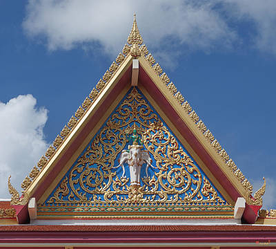 Photograph - Wat Suwan Khiri Khet Meeting Hall Gable Dthp291 by Gerry Gantt