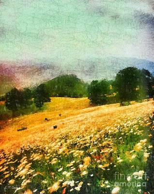 Blowing Rock Nc Painting - Watauga County North Carolina by Elizabeth Coats