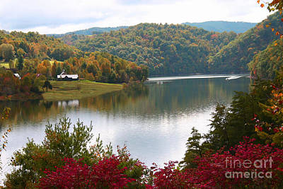 Photograph - Watauga Lake Autumn by Annlynn Ward