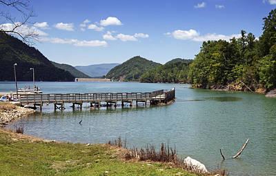 Tva Photograph - Watauga Lake Tennessee - Fishing Pier by Brendan Reals