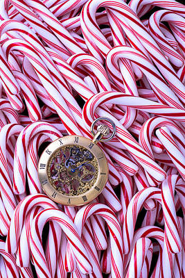 Photograph - Watch And Candy Canes by Garry Gay