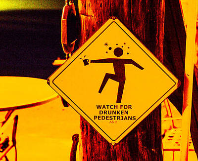 Firefighter Patents Royalty Free Images - Watch for Drunken Pedestrians Royalty-Free Image by Angus Hooper Iii