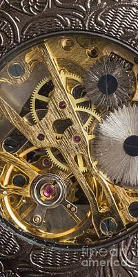 Gear Photograph - Watch Gears Phone Case Aspect by Edward Fielding