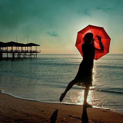 Umbrella Wall Art - Photograph - Watch Her Disappear by Ambra