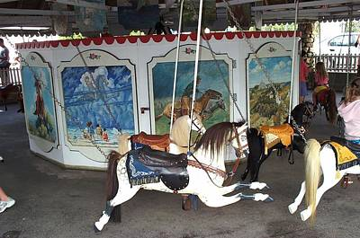 Art Print featuring the photograph Watch Hill Merry Go Round by Barbara McDevitt