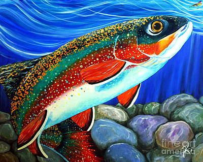 Brook Trout  Art Print by Jackie Carpenter