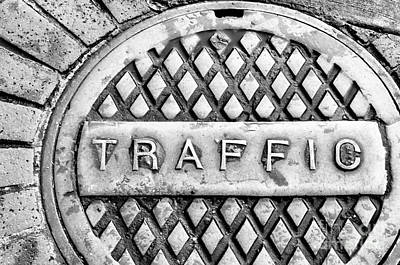 Photograph - Watch Out For The Traffic 2 - Bw by Kathleen K Parker