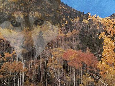 Canine Digital Art - Watcher In The Woods by Ernie Echols