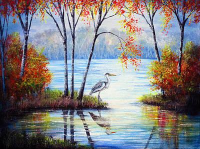 Watching Autumn Print by Ann Marie Bone
