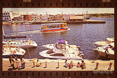 Watching Boats On The Port Print by Beverly Claire Kaiya