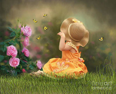 Digital Art - Watching Butterflies by Lena Auxier