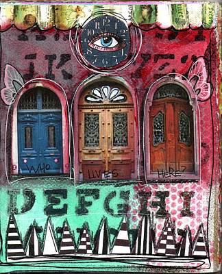 Watching Doors Art Print by Carrie Todd