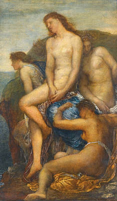 Theseus Painting - Watching For The Return Of Theseus by George Frederic Watts