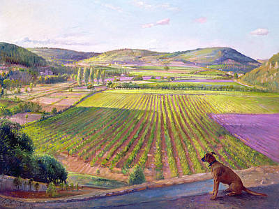 Mountain Painting - Watching From The Walls Old Provence by Timothy  Easton