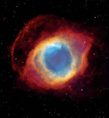 The Hubble Telescope Photograph - Watching - Helix Nebula by Jennifer Rondinelli Reilly - Fine Art Photography