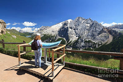 watching Marmolada mount Art Print