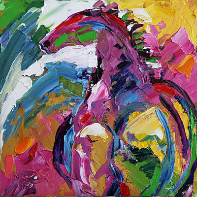 Painting - Watching Over . Horse 19 . 2014 by Laurie Pace