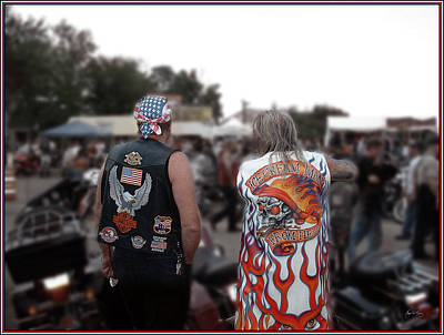 Photograph - Watching Over The Bikers by Wayne King