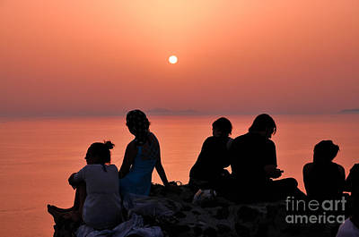 Photograph - Watching The Famous Sunset In Oia by George Atsametakis