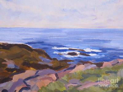 Maine Landscapes Painting - Watching The Horizon by Colleen Kidder