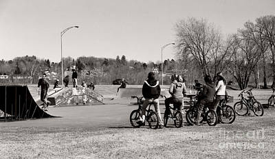 Photograph - Watching The Skaters by Heather Kirk