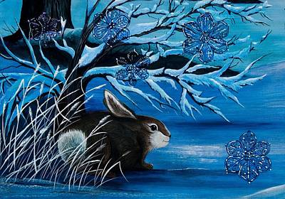Painting - Watching The Snow Fall by Jennifer Lake