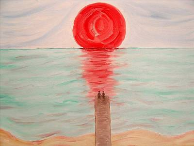 Mood Painting - Watching The Sun Melt by Patrick J Murphy